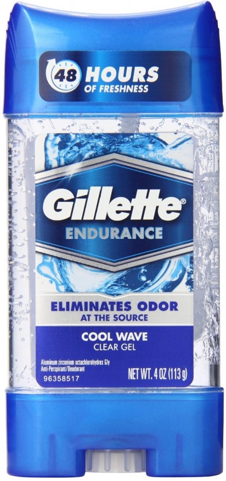 Gillette Cool Wave Clear Gel Deodorant Stick For Men