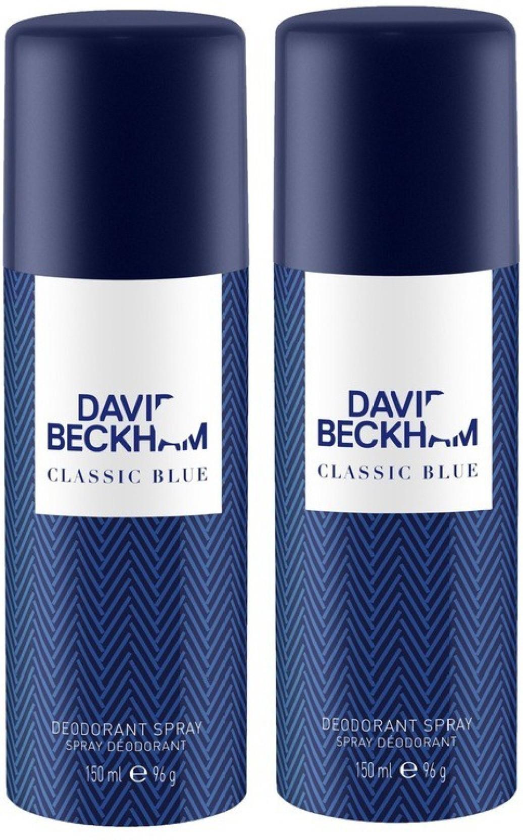 David Beckham Pack Of 2 Classic Blue Men Deo Deodorant Spray For Chanel Bleu 150ml Home