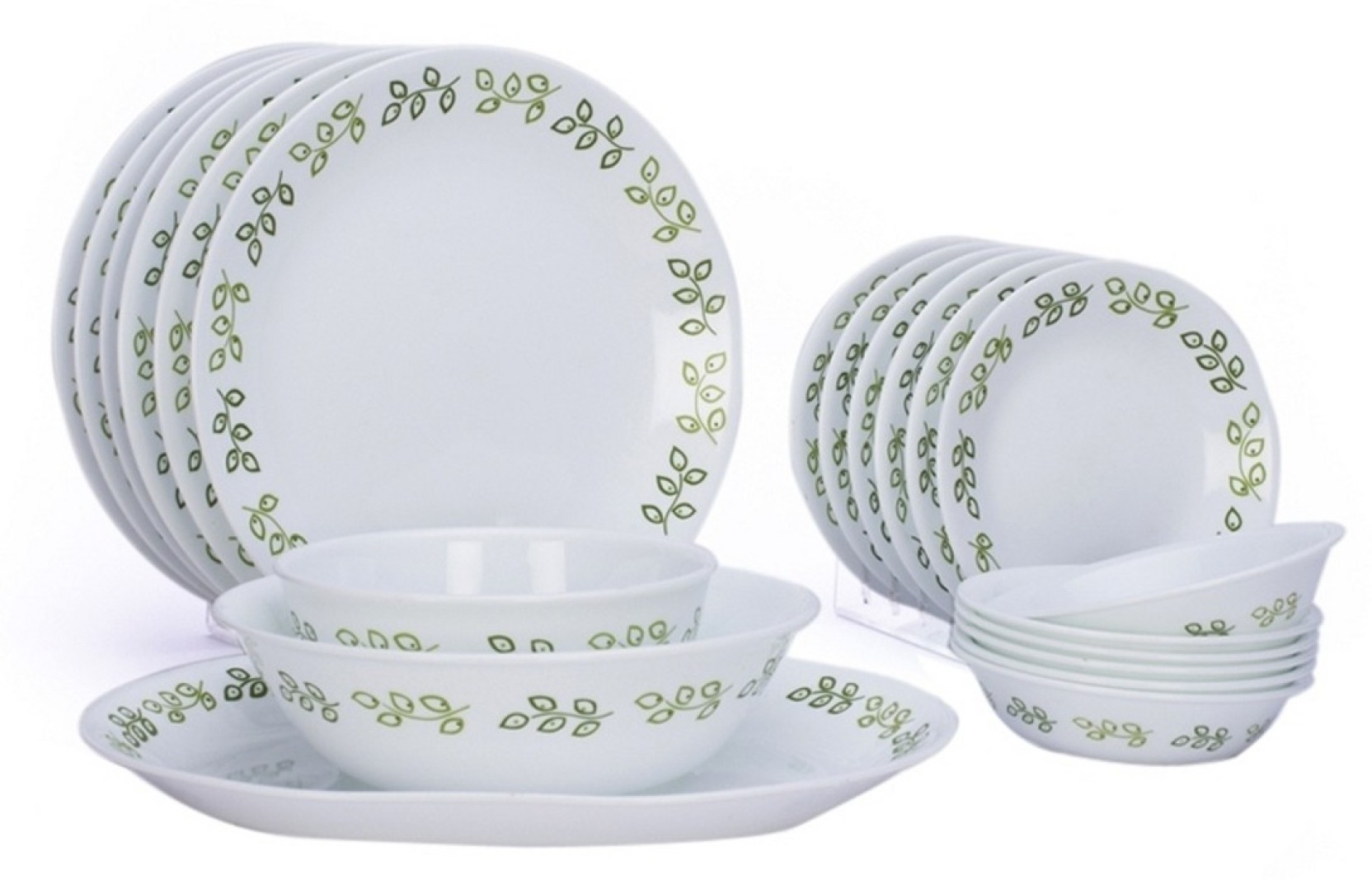 Corelle Neo Leaf Pack Of 21 Dinner Set Price In India