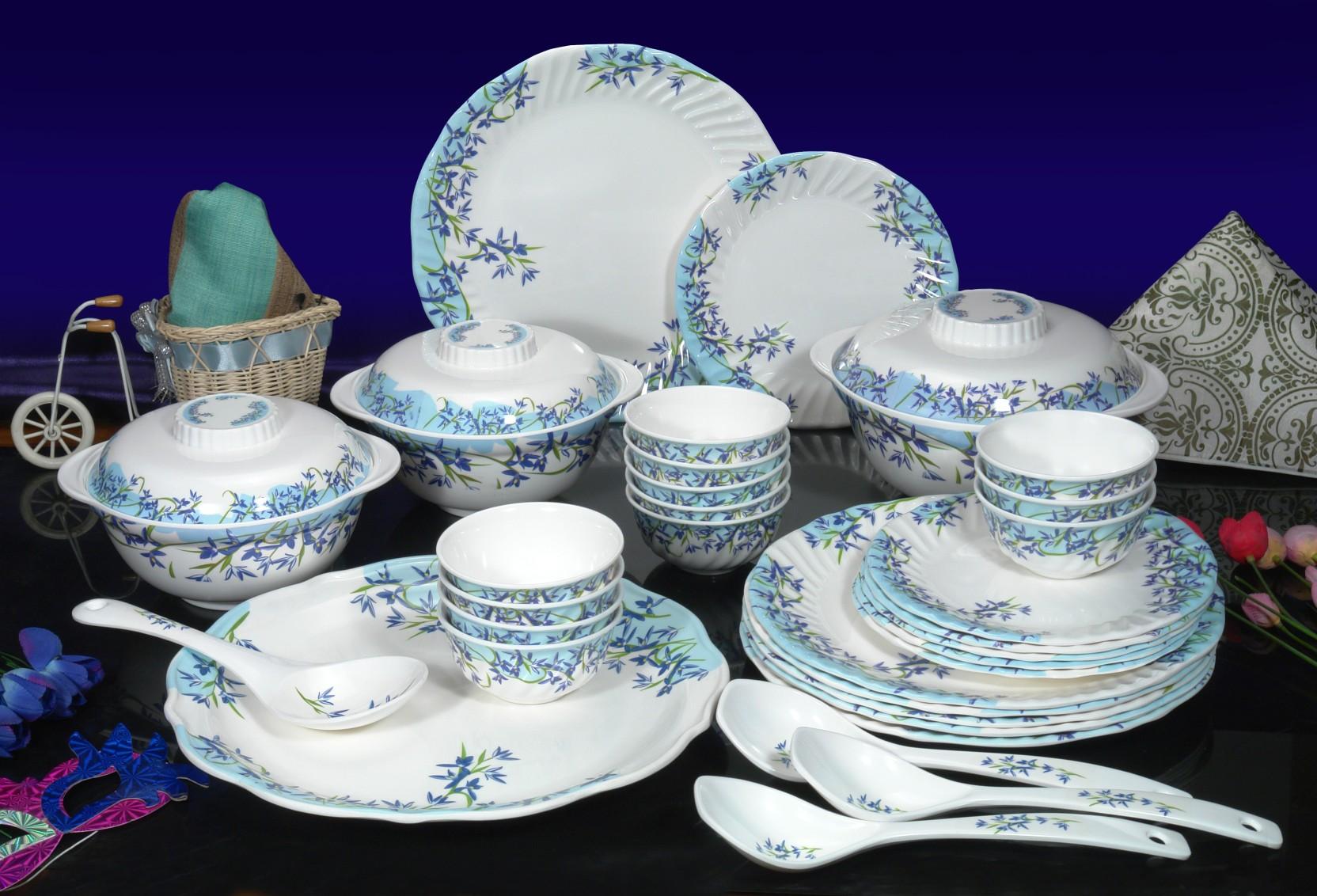 Machi Azure Flower Pack of 35 Dinner Set Price in India - Buy Machi ...