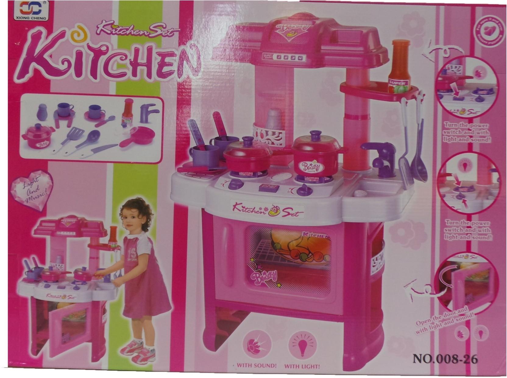 Toy mall new kitchen set new kitchen set shop for toy for Kitchen set on flipkart