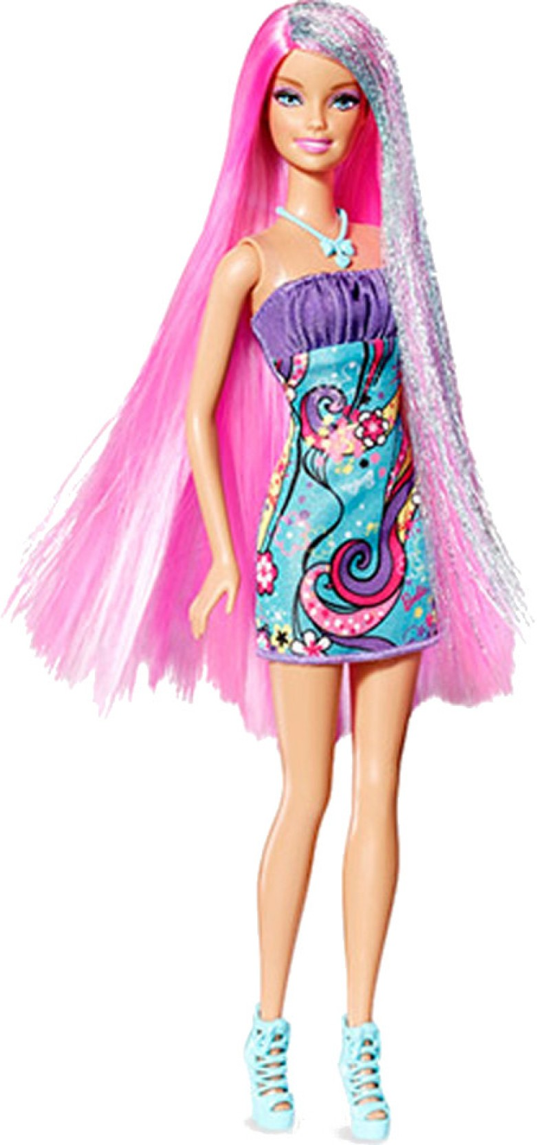 Barbie Long Hair Doll Pink Hair Long Hair Doll Pink