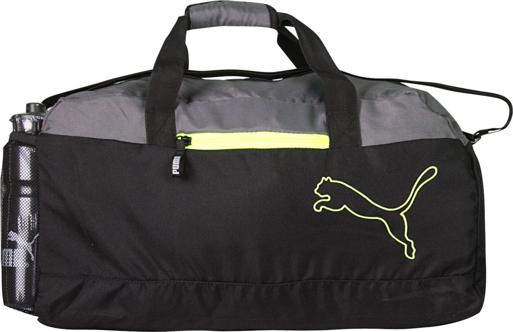 858f9a20de5d Puma FUNDAMENTAL SPORTS BLACK GREY Travel Duffel Bag (Black