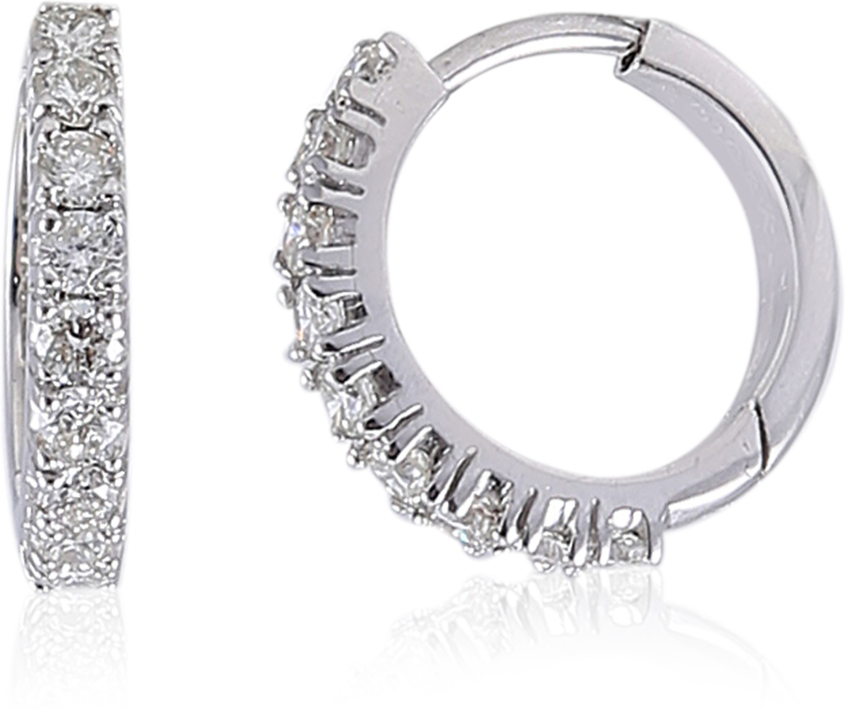Jisha Yellow Gold 14kt Diamond Hoop Earring Price in India Buy