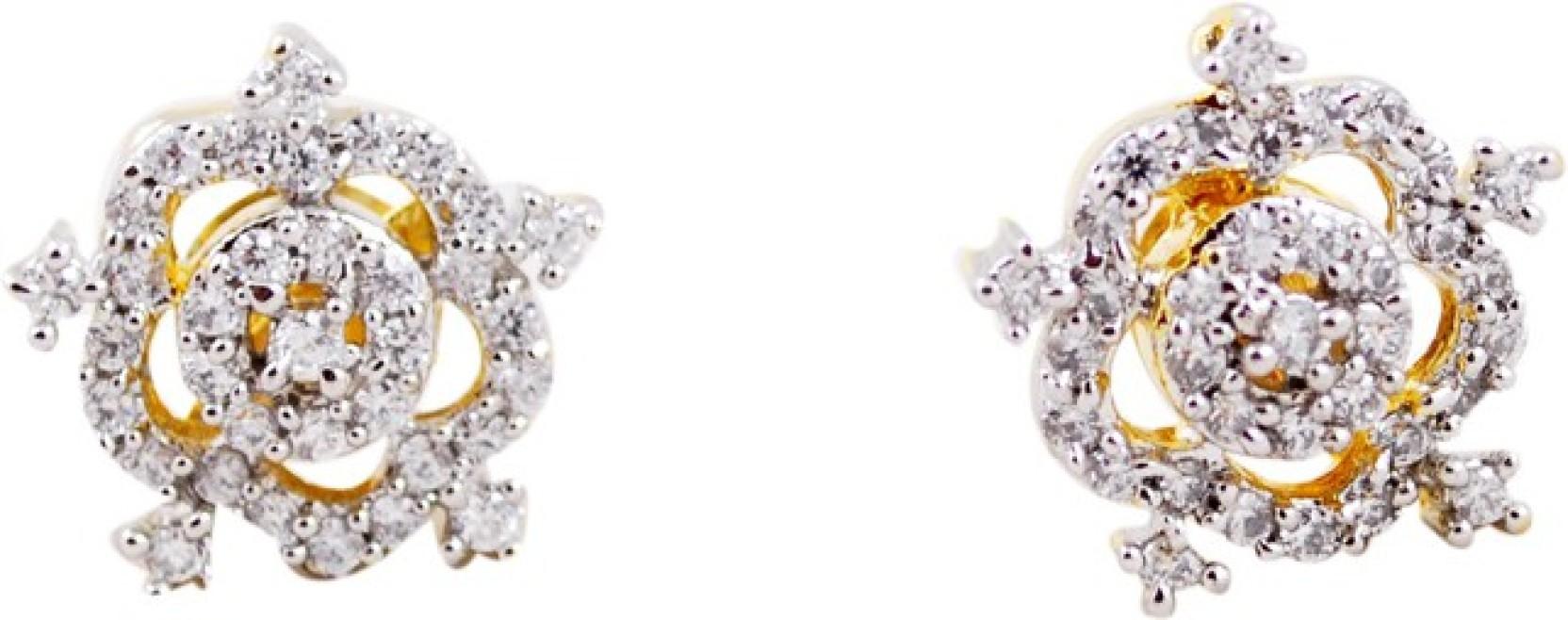 855e8dbad6560 Flipkart.com - Buy Nysa Gold & Silver Crystal Stone Copper Stud ...