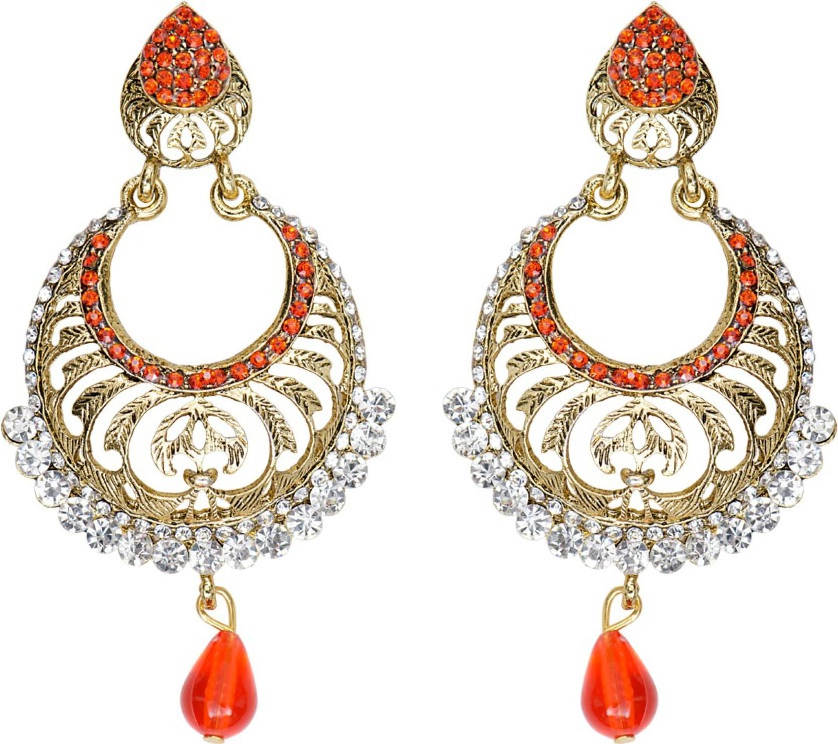 aae2f493c2a2 Flipkart.com - Buy Mitthi Jewels Party Wear Orange Traditional Type ...