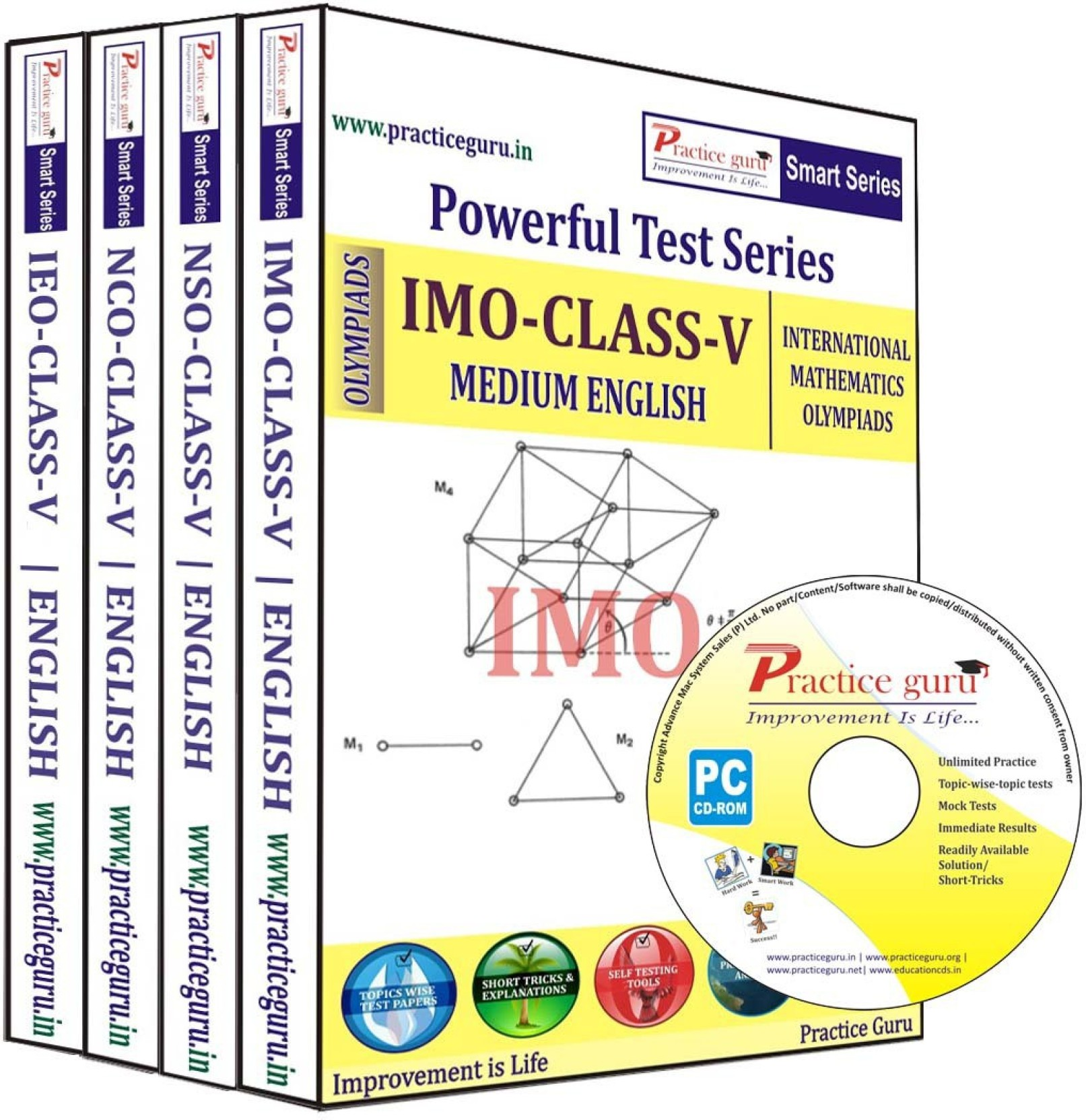Practice Guru Class 5 - Combo Pack (IMO / NSO / IEO / NCO
