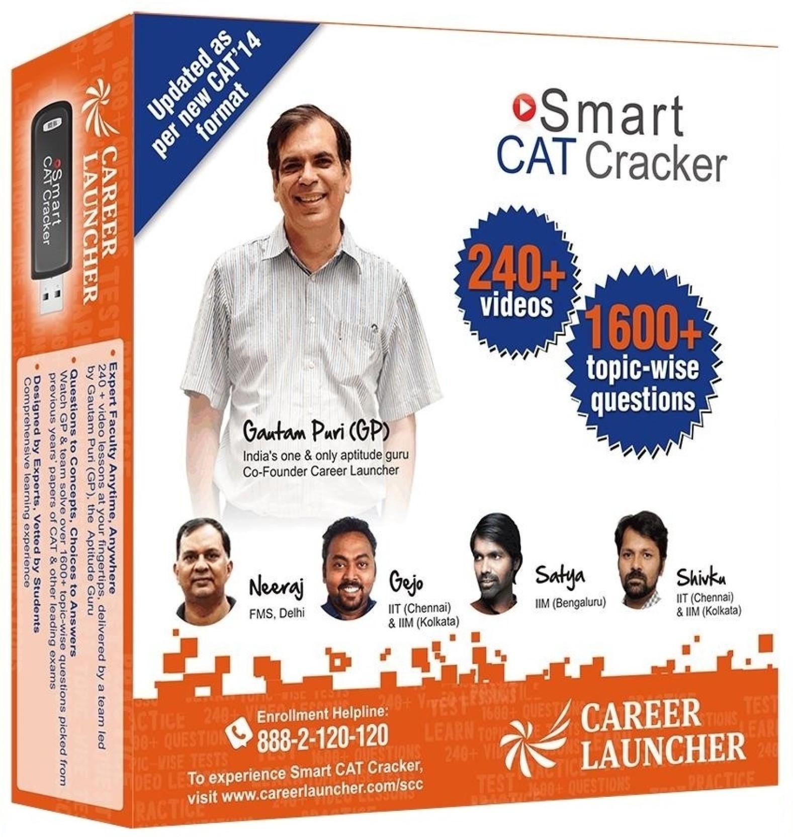 Career Launcher Smart CAT Cracker (OnMobile - USB) - Career Launcher