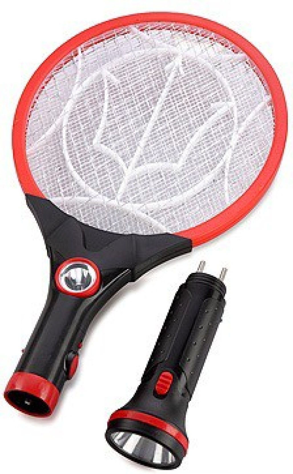 Teeta Rechargeable Mosquito Bat With Two Torches Electric Insect Swatter Electronics Hobby On Offer