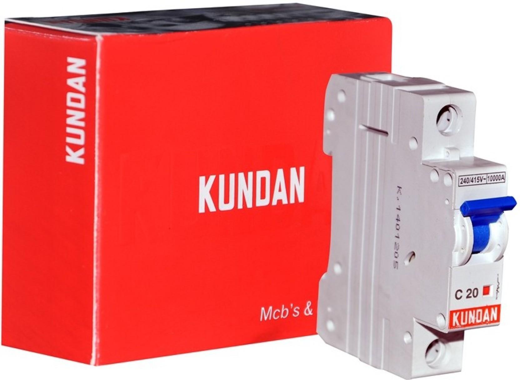 Kundan Cab Single Pole K502 20a Mcb Price In India Buy A9f54132 1 Miniature Circuit Breaker 32a Type C Curve Share