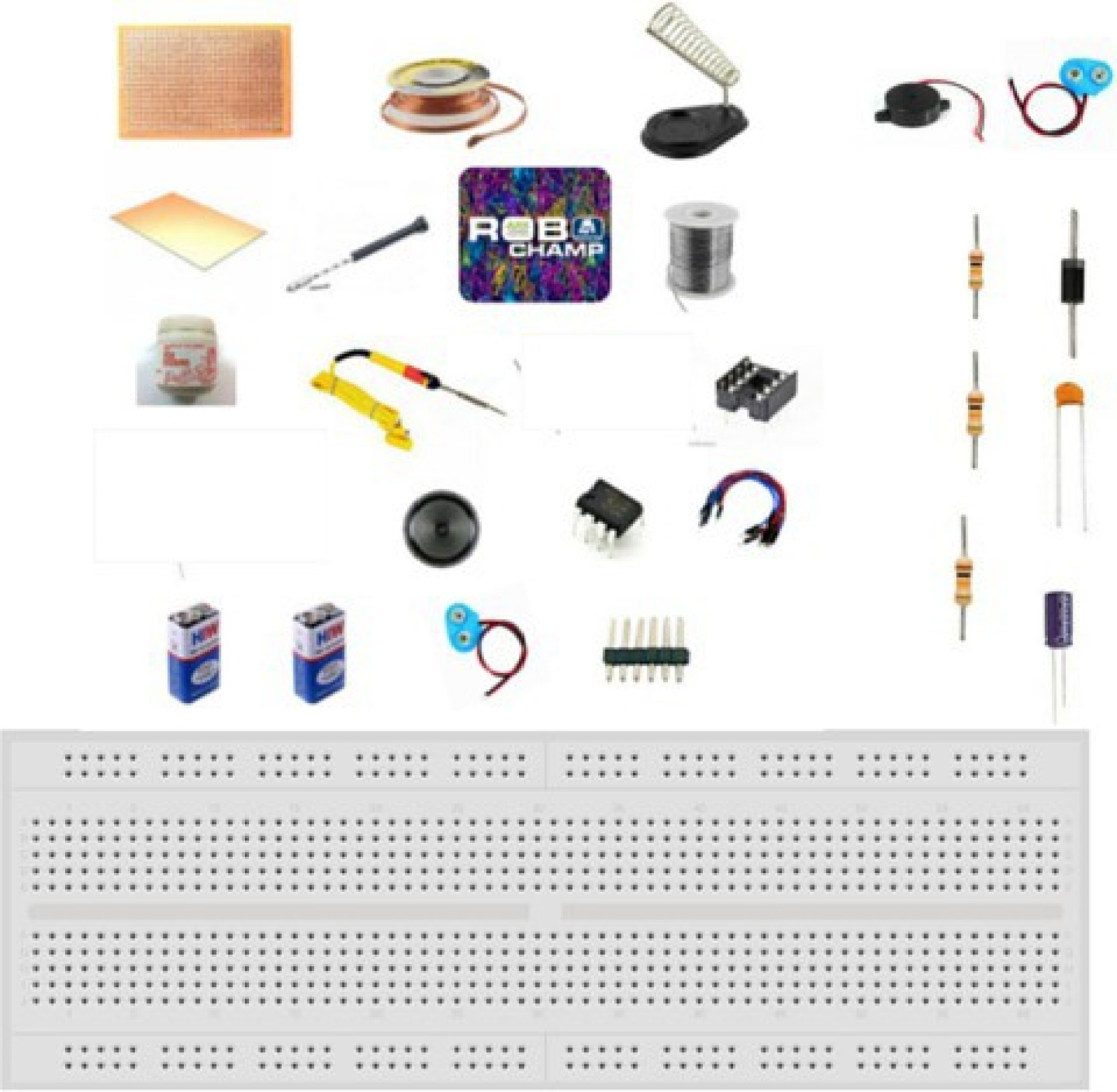 Robokart Complete Electronic Mosquito Insect Repellent Kit Using 555 Repellents By Circuit Ic With Breadboard And Note Pad Add To Cart