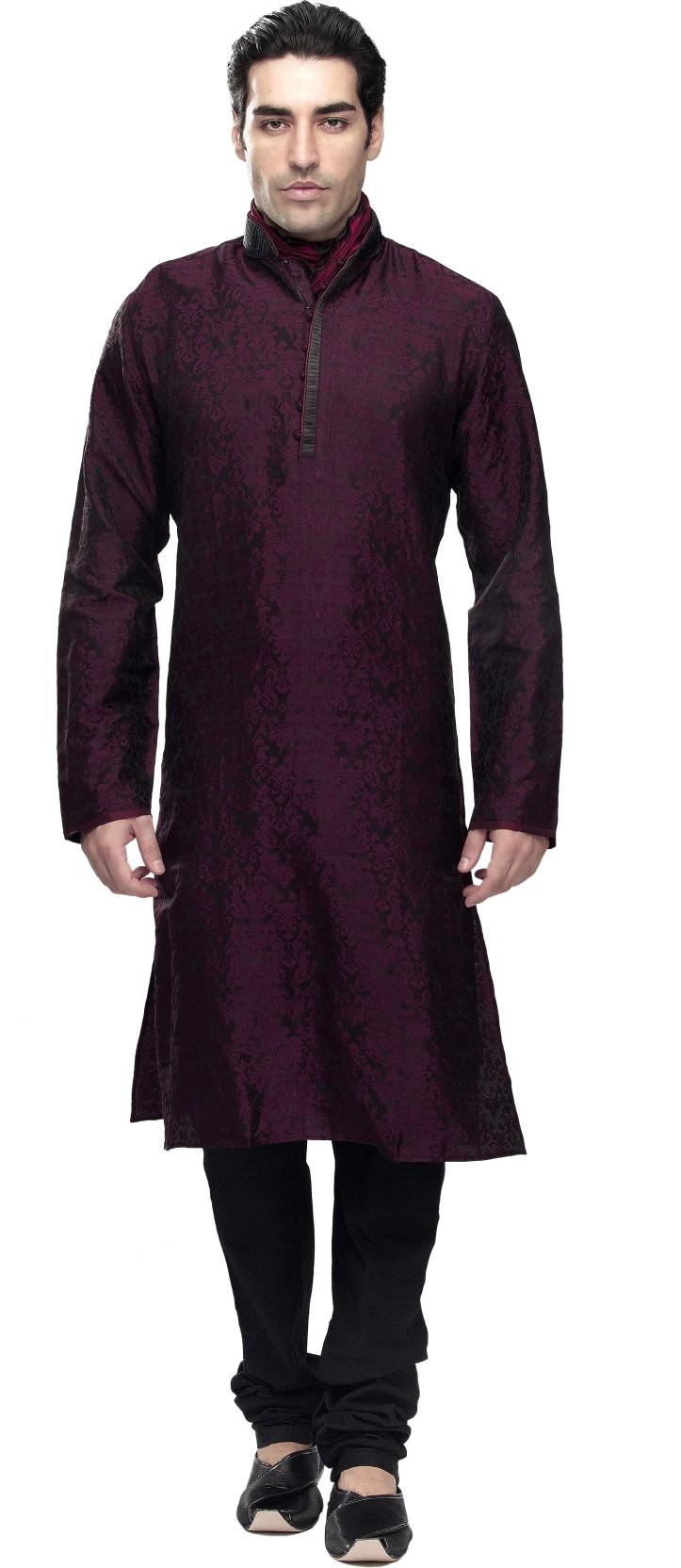 d3a3430b34 Manyavar Men's Kurta and Churidar Set - Buy Purple Manyavar Men's ...