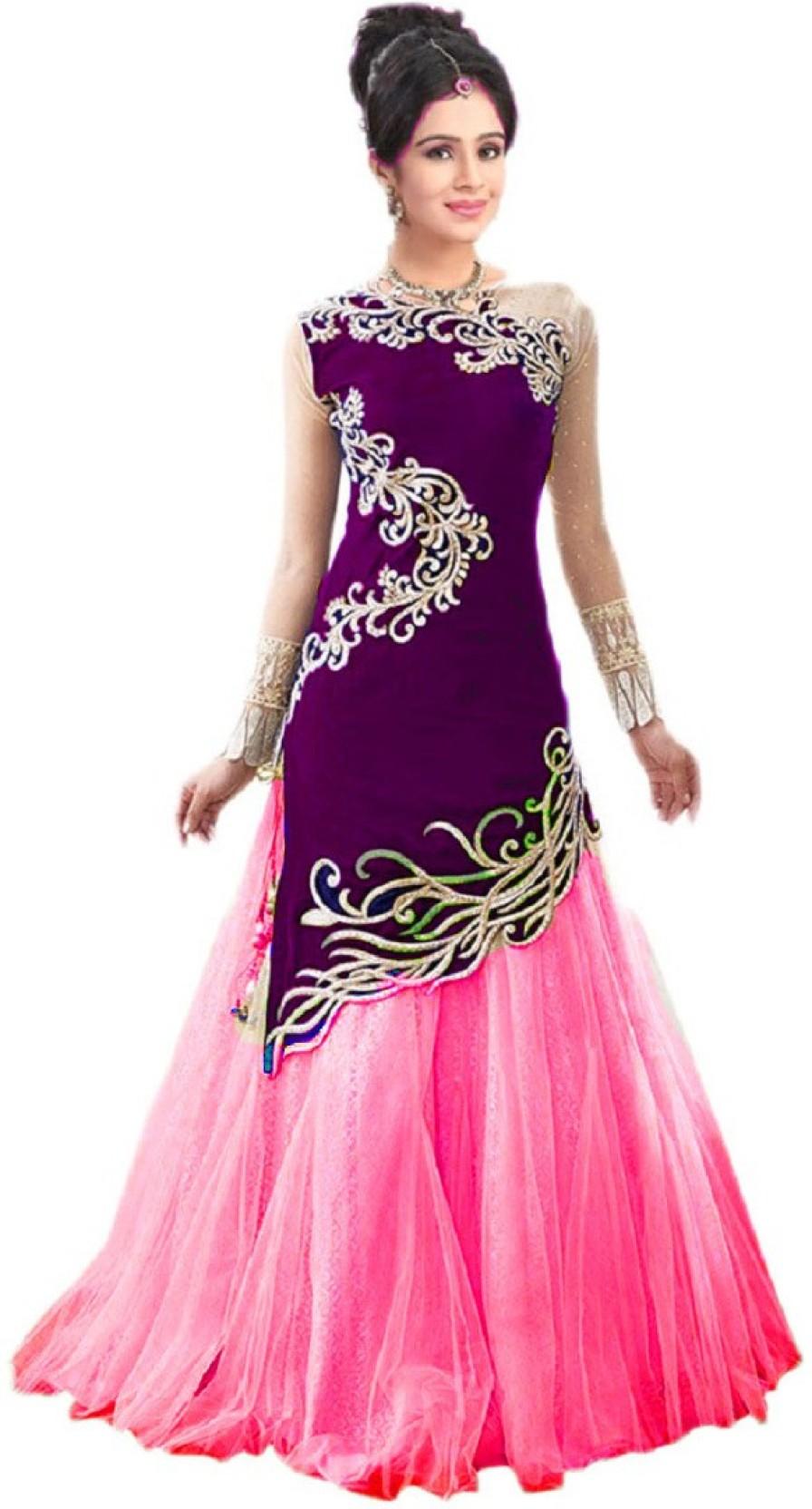 Savaliya Enterprise Embroidered Self Design Ghagra Choli Buy Fiction Peplum Dress Purple Add To Cart