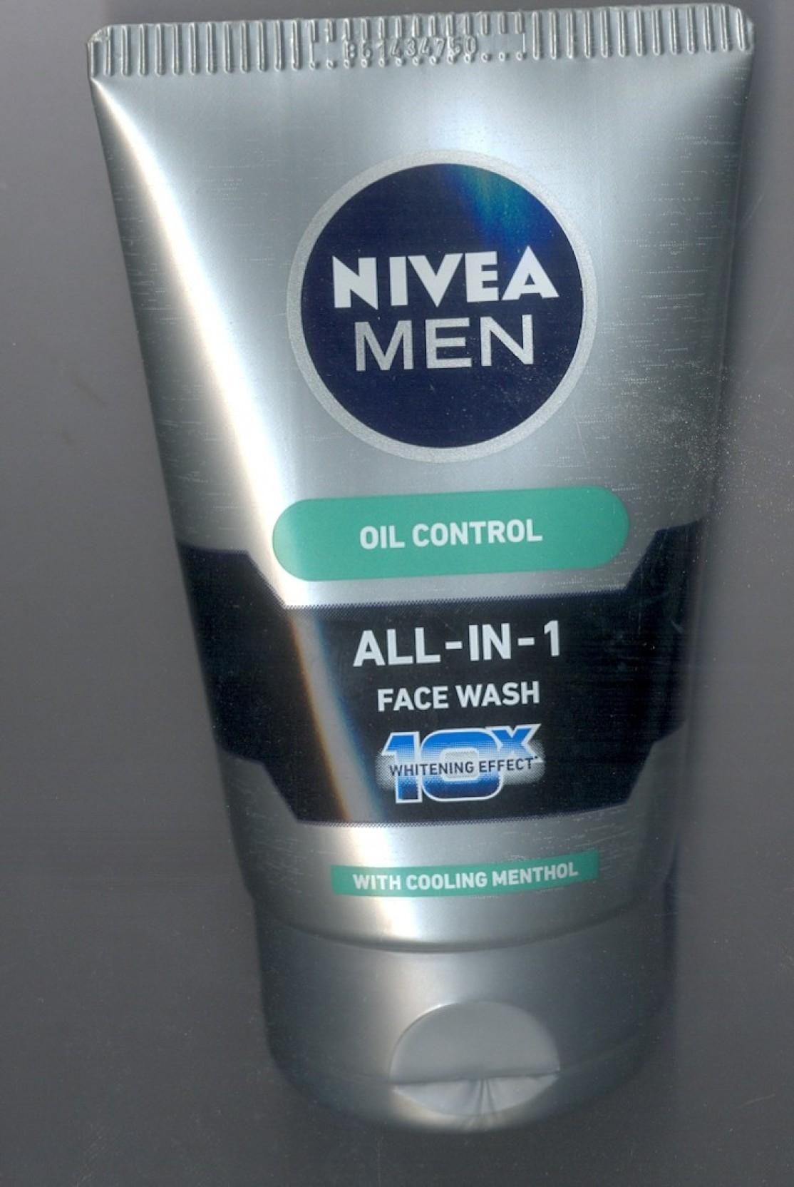 Nivea Men Oil Control All-in-1 10x Whitening Effect Face ... Nivea Face Wash For Men Oil Control
