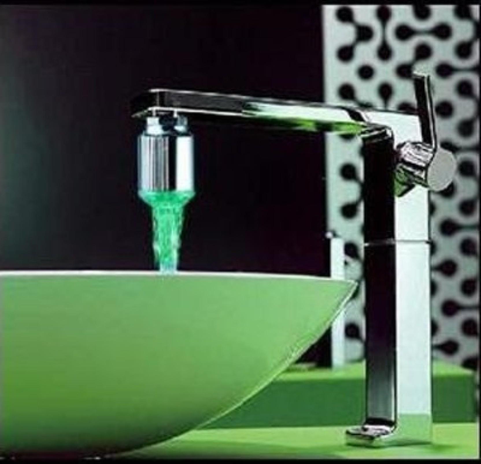 Bbroz 7 Colour Water Tab/Faucet Kitchen/Bathroom Royal Spout Faucet ...