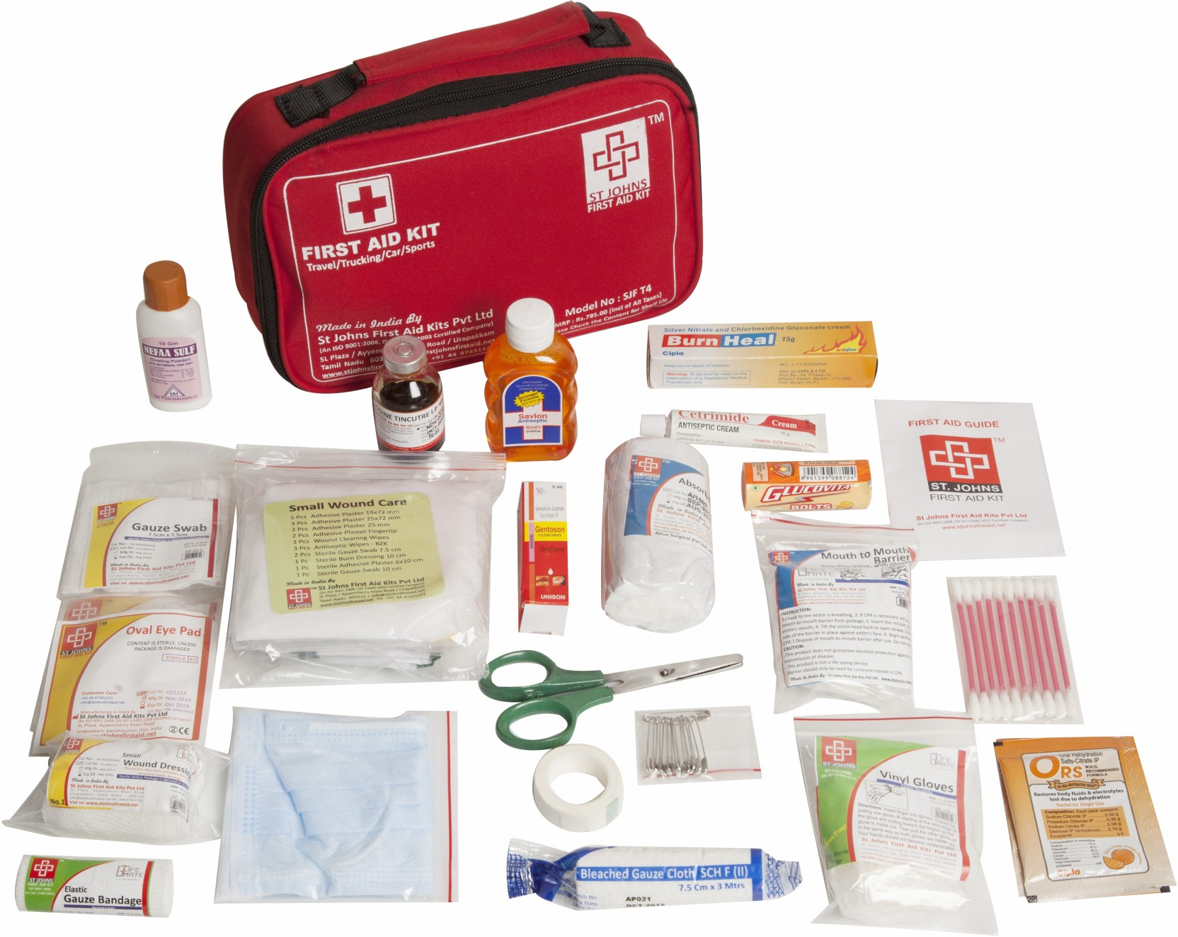 ST JOHNS FIRST AID SJF T4 First Aid Kit Price in India ...