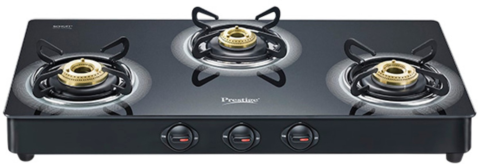 Prestige Royale Plus Glass Aluminium Manual Gas Stove