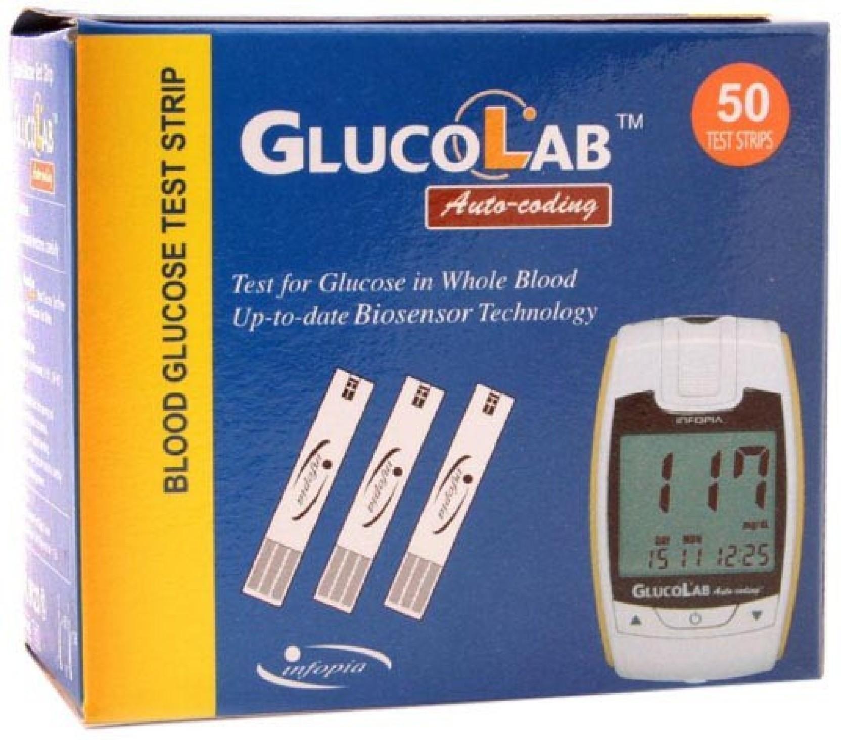 Gluco Lab 50 Glucometer Strips Price In India Buy Strip Dr Bio Sensor Add To Cart