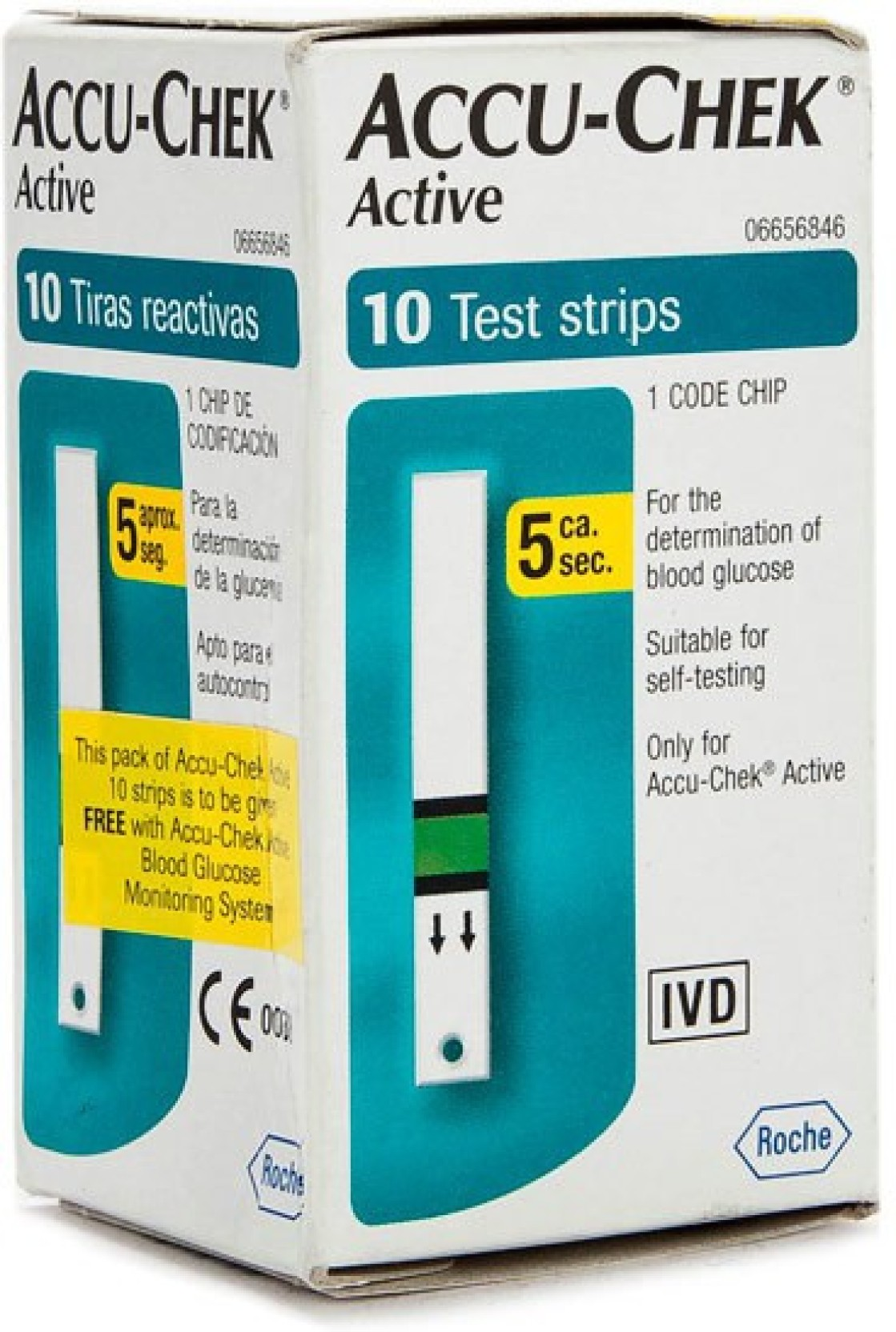 Accu Chek 10 Glucometer Strips Price In India Buy Strip Check Active Roche Add To Cart