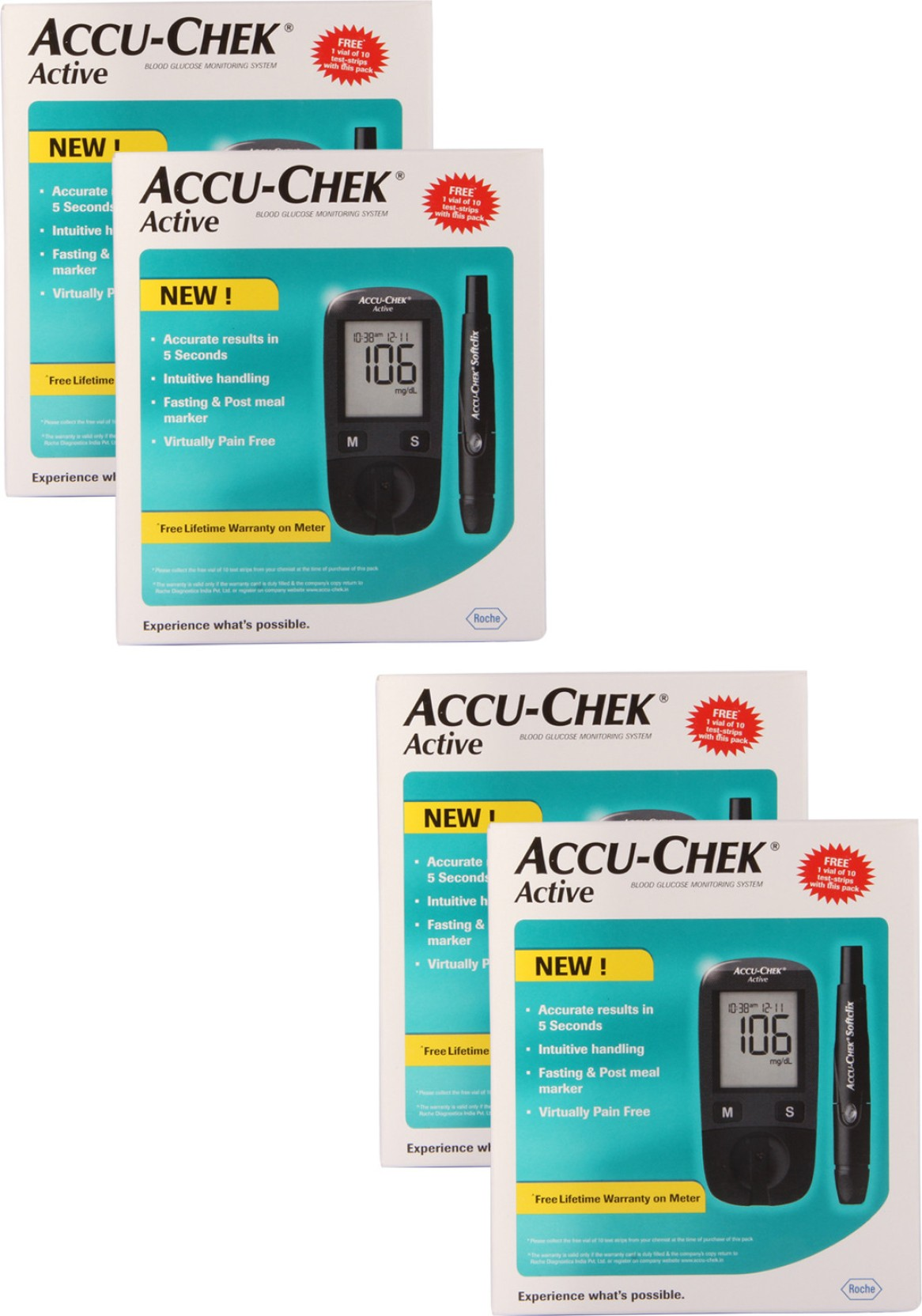 Accu Check Active Glucometer Price In India Buy Accu