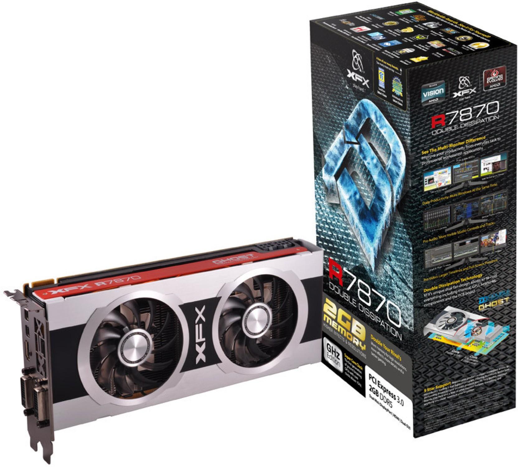 XFX AMD/ATI HD 7870 2 GB DDR5 Graphics Card - XFX ...