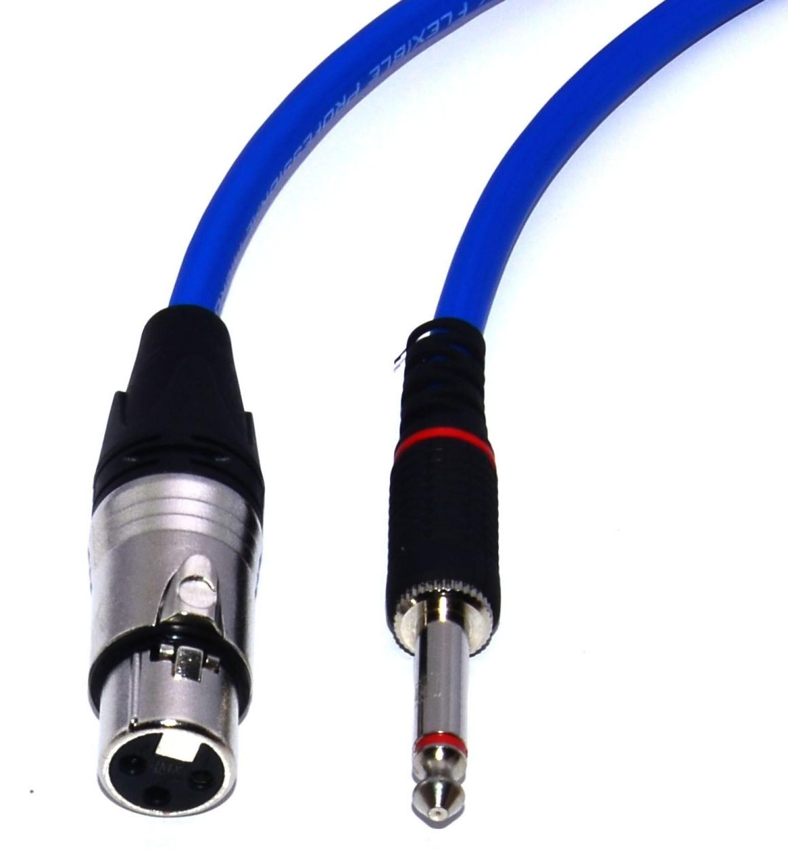 Ma Mono Plug 635mm1 4 Inch Jack To Xlr Female Amplifier Blue 5 Wiring Home