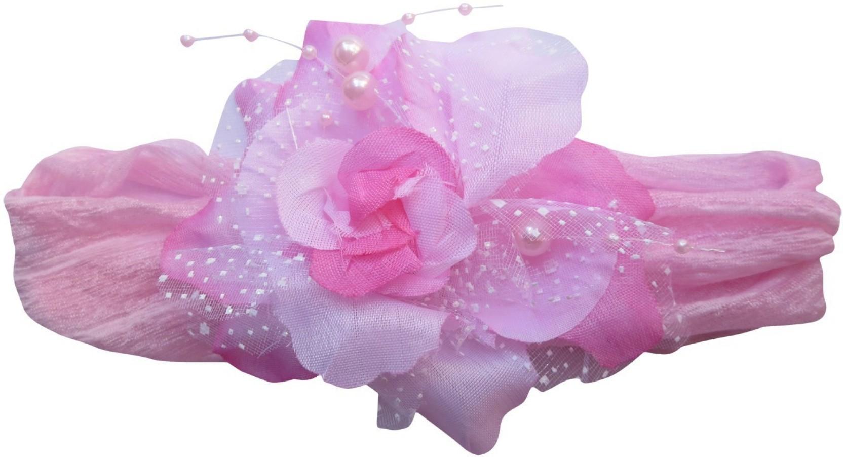 Dcs Flower Baby Girls Elastic Pink Headband Kids Hairband Princess Hair Band Share