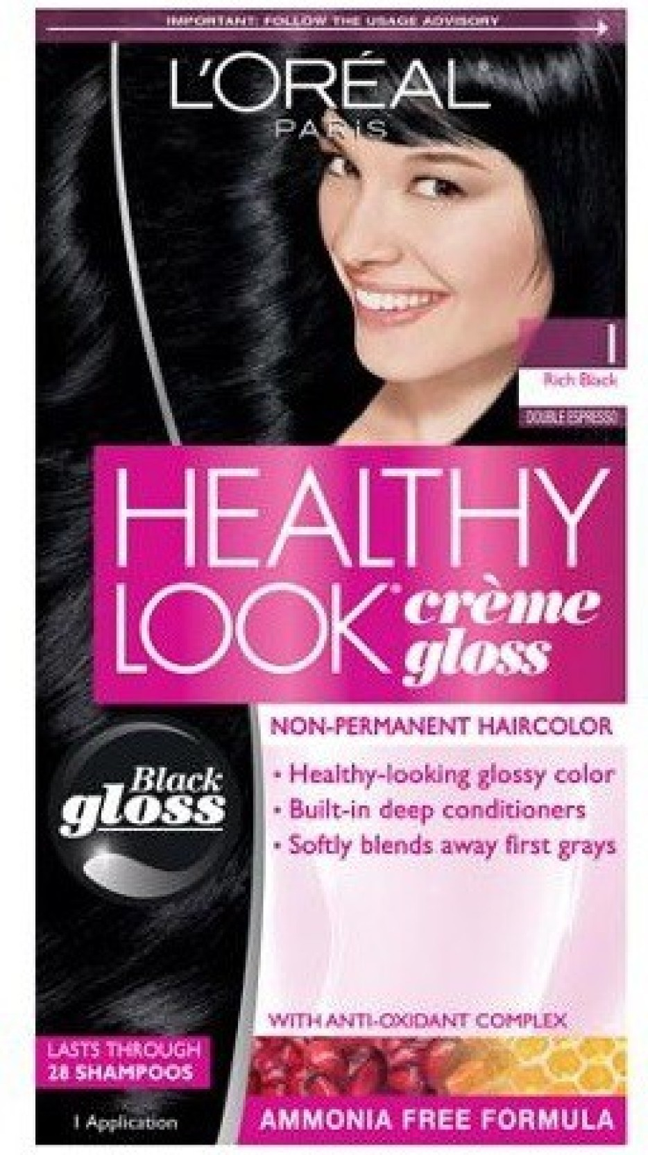 Loreal Paris Healthy Look Creme Gloss No Ammonia Hair Color