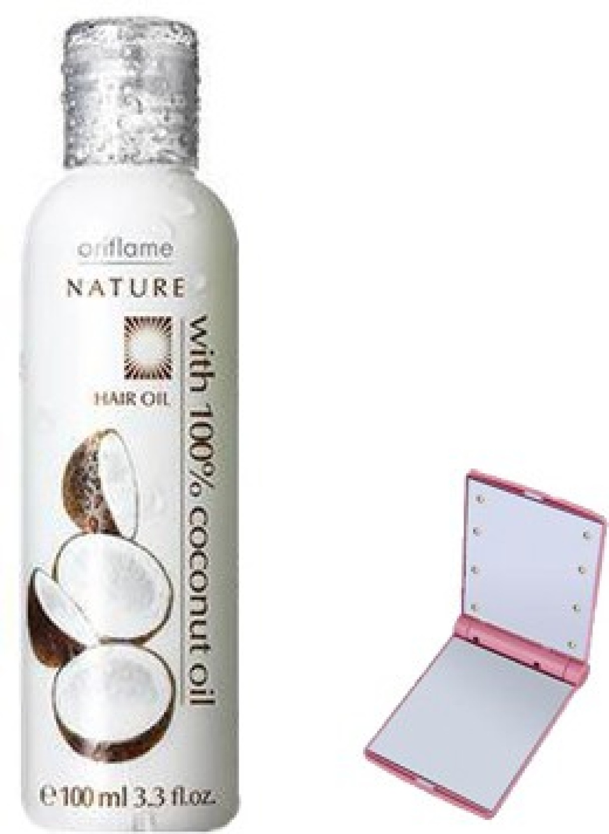 17bb2ca5e22a Oriflame Sweden NATURE HAIR OIL WITH 100% COCONUT WITH SMART POCKET MIRROR  Hair Oil