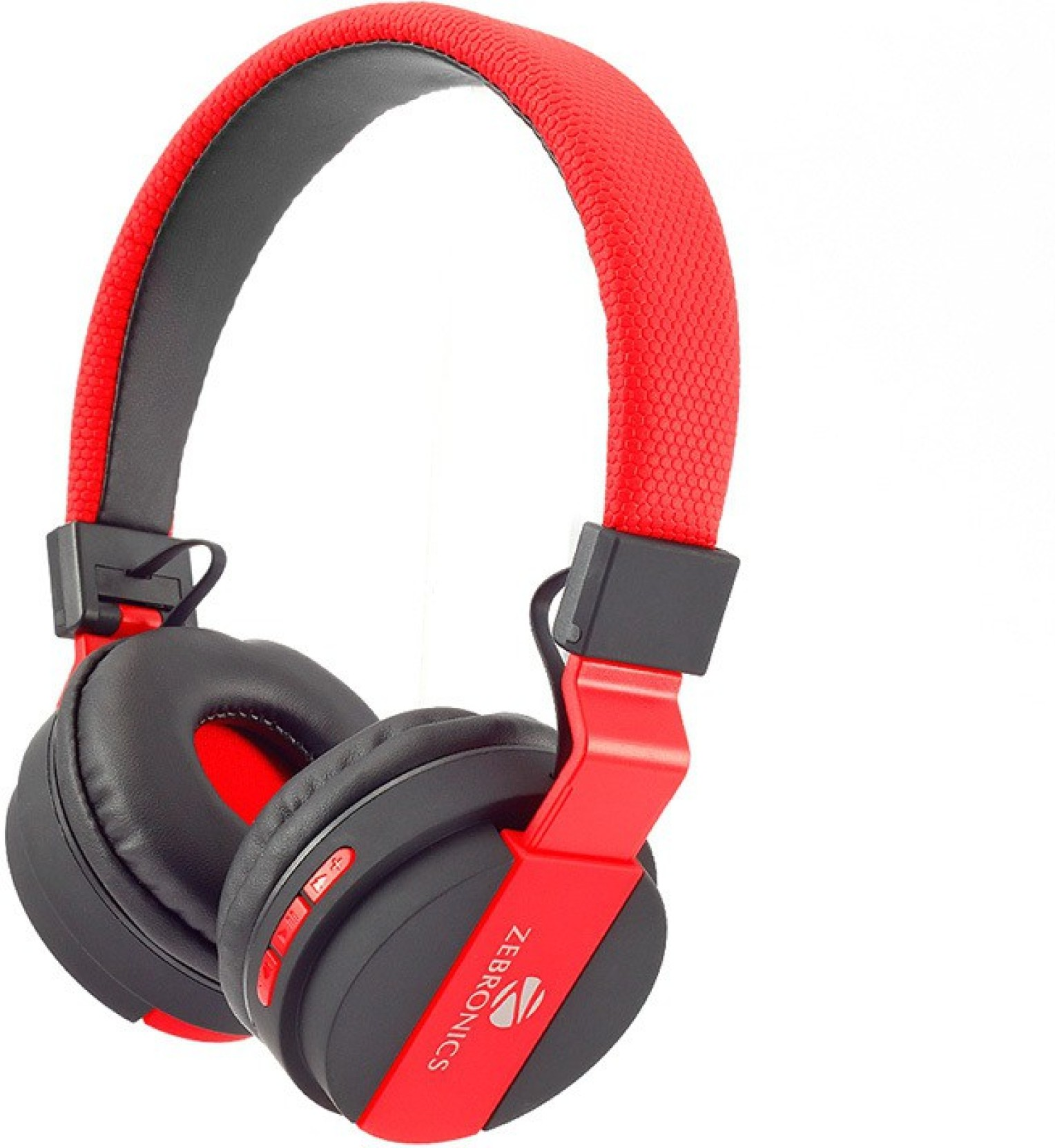 Zebronics Airone Red Stereo Wireless Bluetooth Headphones Price In India