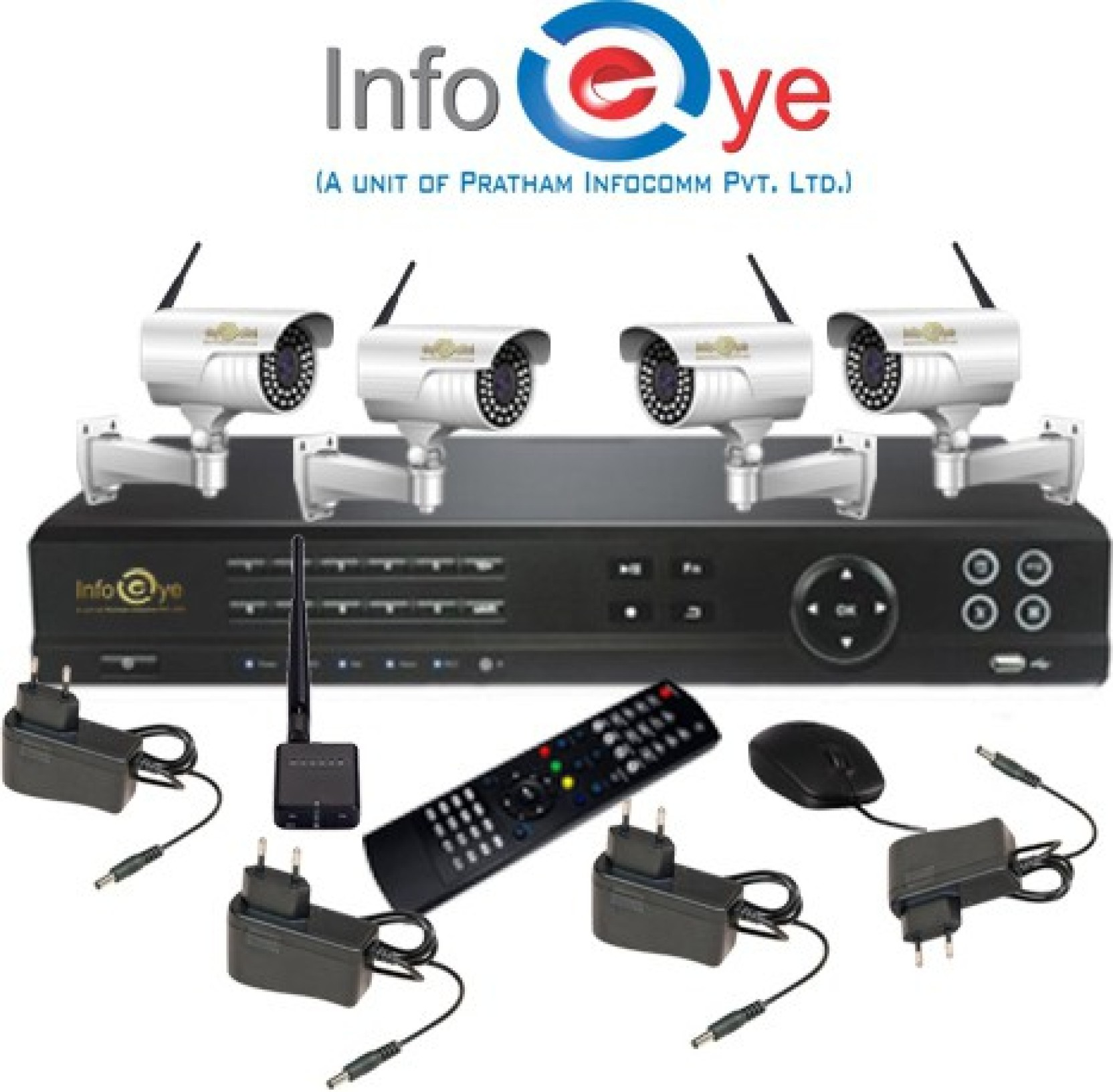 Infoeye Wireless Nvr Kit Home Security Camera Price In India Buy D3d Alarm System New Delhi Share