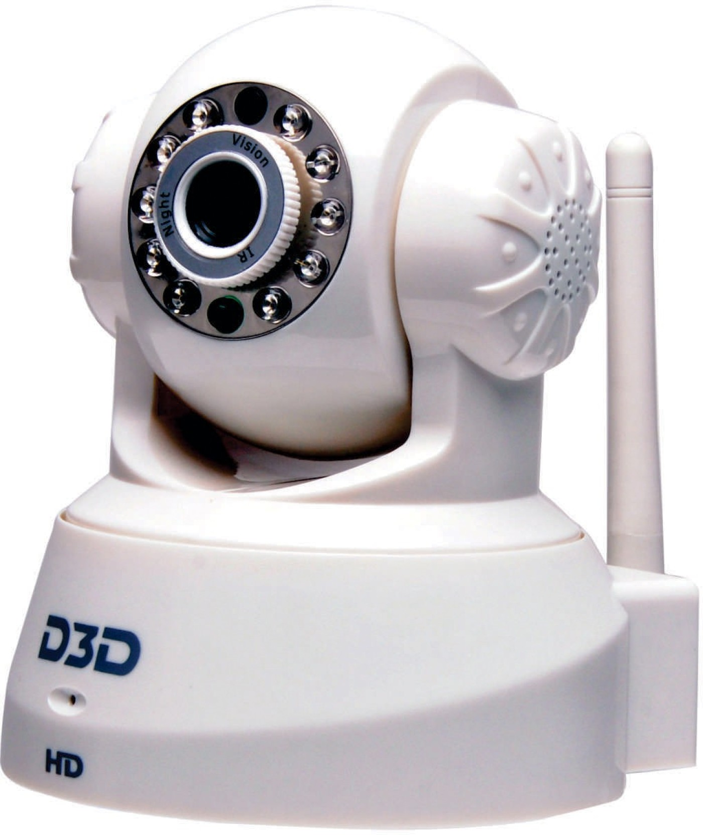 D3D Wireless Full HD IP Camera 360 Degree Panilt With 5X Zoom White Colour  Smart phone iOS/ Android Mobile App Home Security Camera