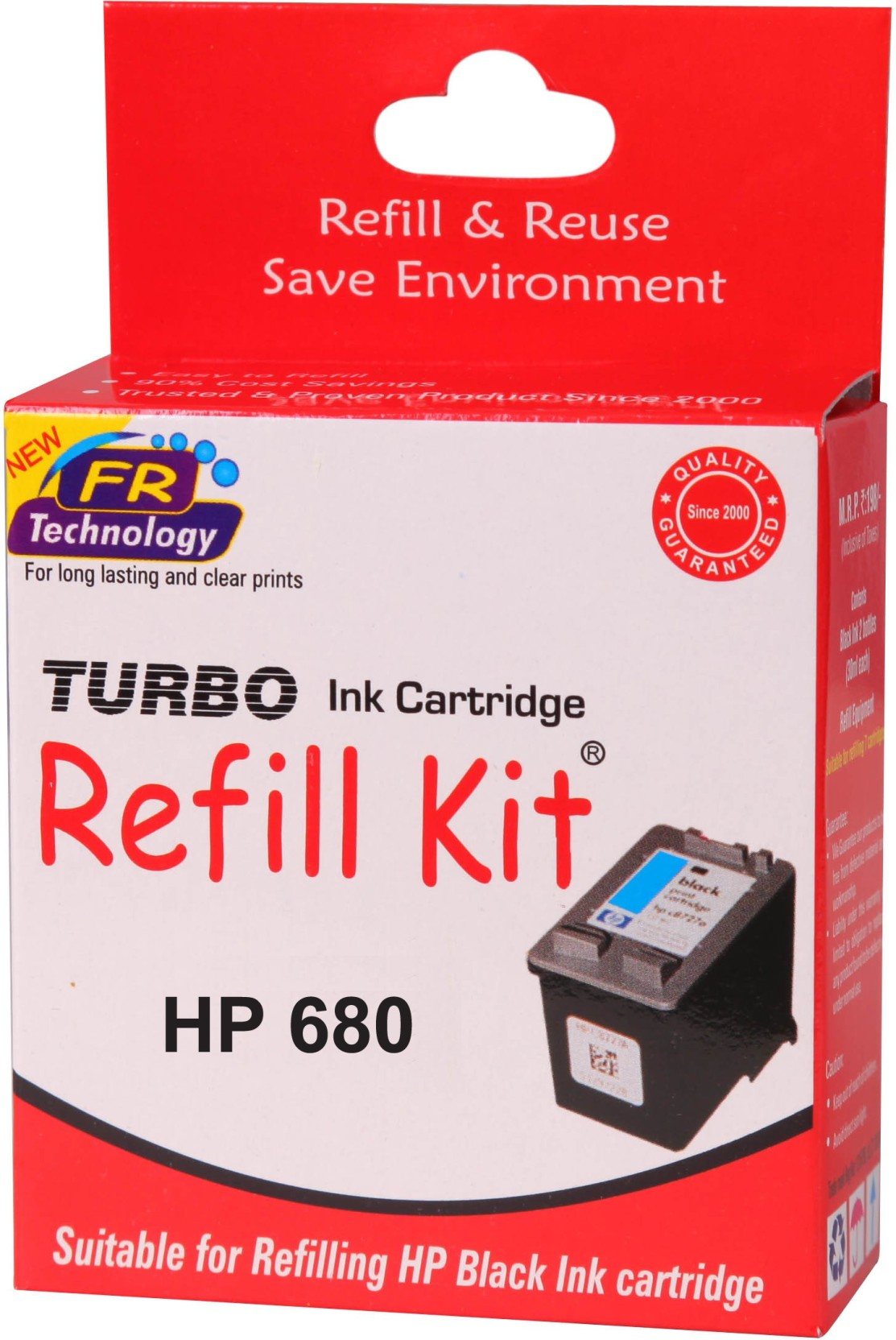 Turbo Ink Refill Kit For Hp 680 Cartridge Single Color Tri Original Advantage Add To Cart