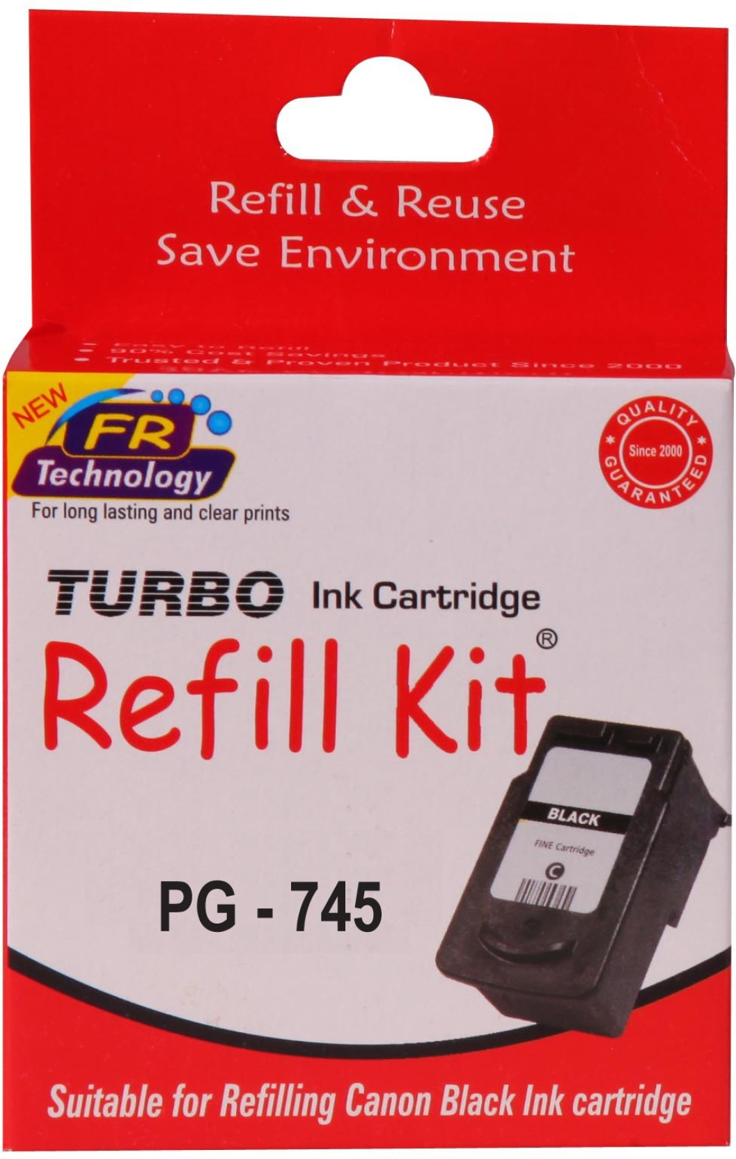 Turbo Ink Refill Kit For Canon Pg 745 Cartridge Single Color Ready 810 Black Ori On Offer