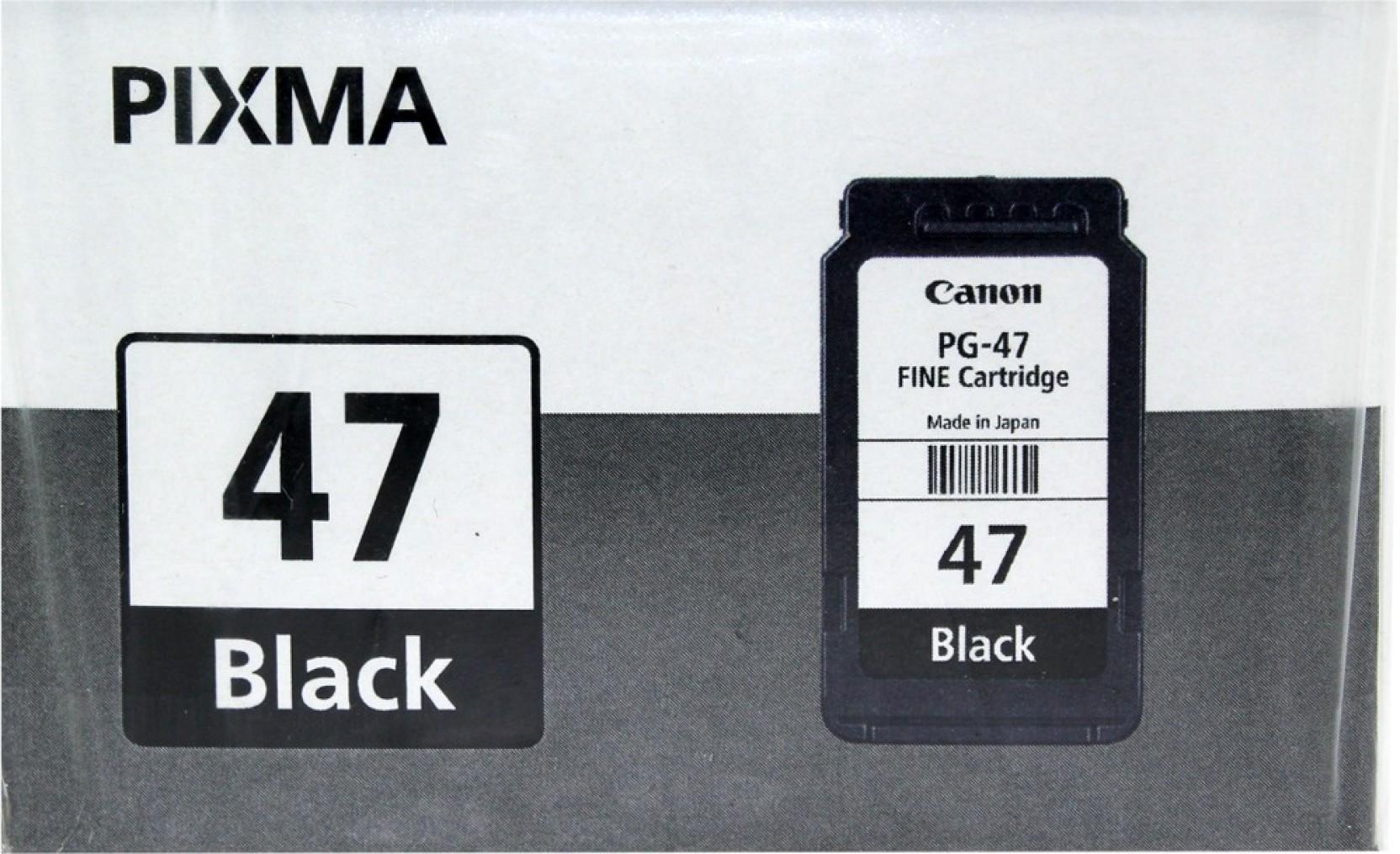 Canon Pg 47 Fine Cartridge Black Daftar Update Harga Terbaru Dan Tinta Single Color Ink Compare