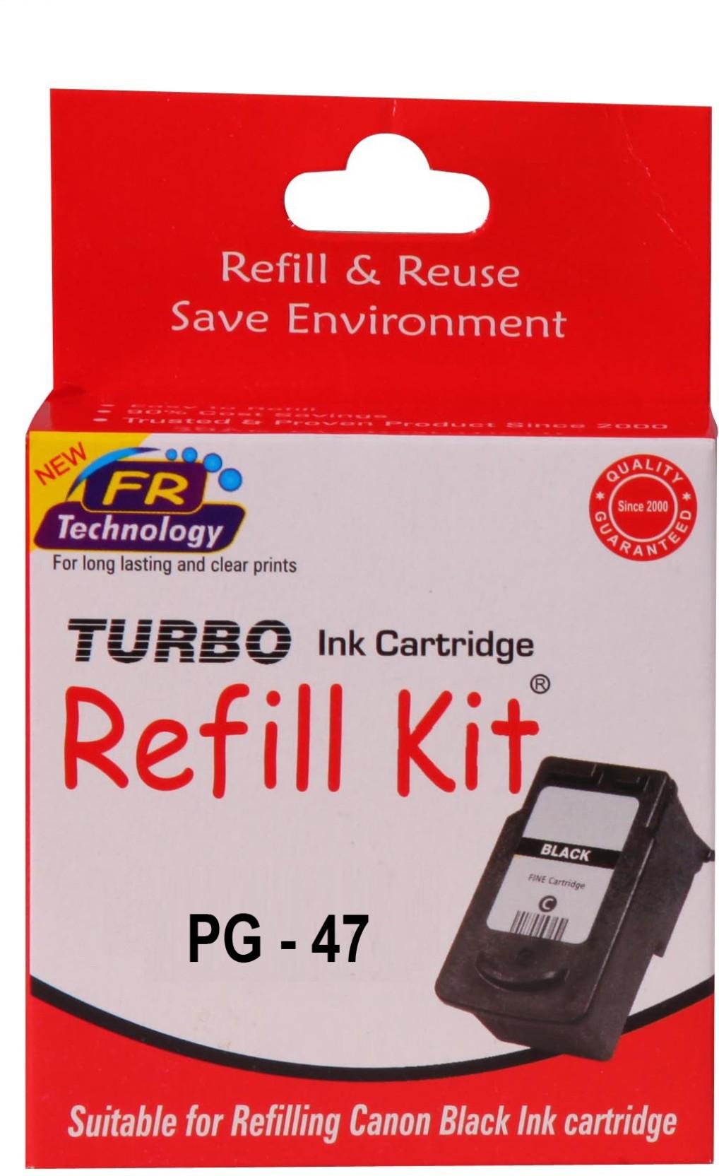 Turbo Ink Refill Kit For Canon 47 Black Cartridge Single Color Pg Original On Offer