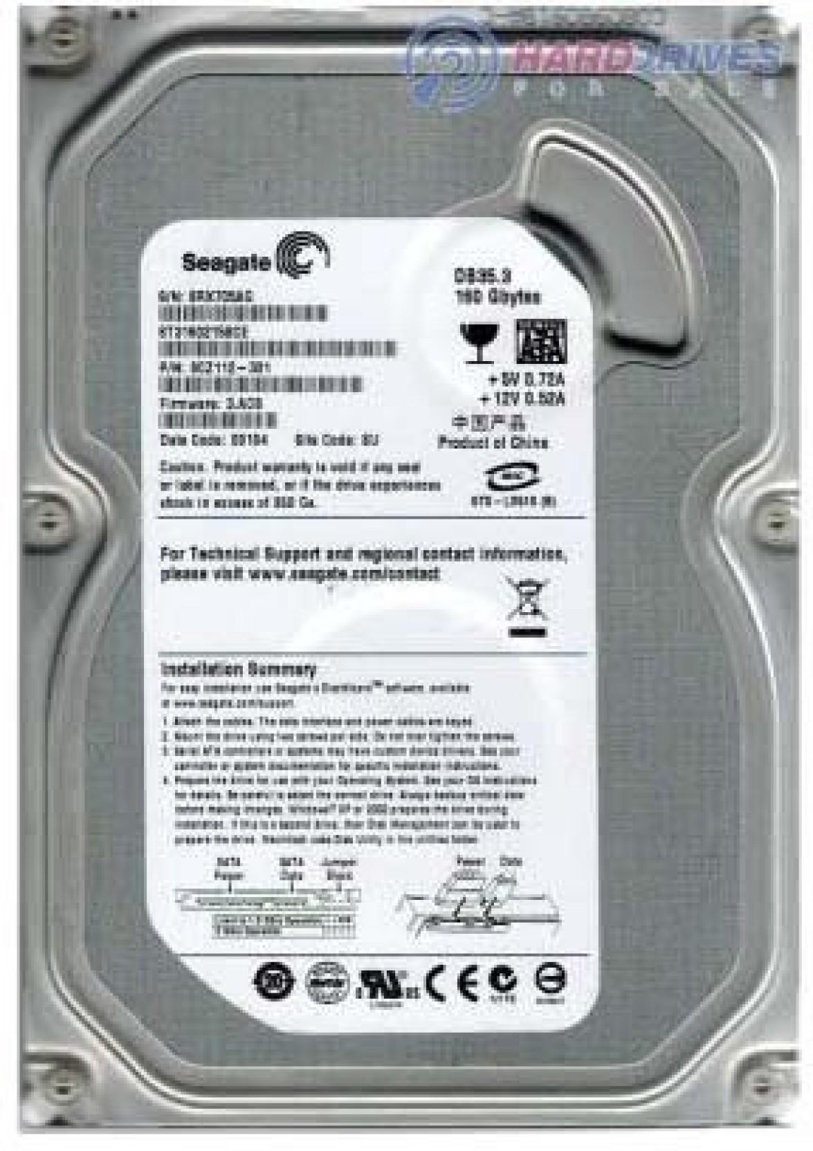 Seagate DB 35.3 160 GB Desktop Internal Hard Disk Drive (IDE Desktop). ADD TO CART