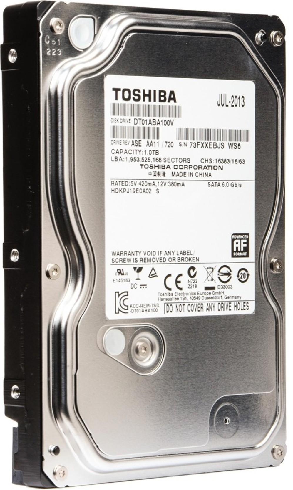 Toshiba Av 1 Tb Desktop Internal Hard Disk Drive Dt01aba100v Hardisk Notebook 1tb 25 Inch Sata Add To Cart