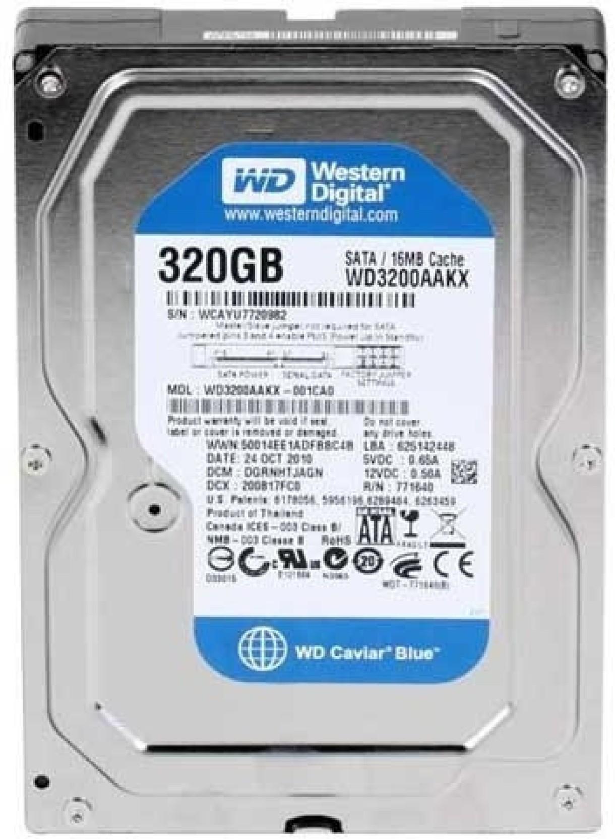 Wd Caviar Blue 320 Gb Desktop Internal Hard Disk Drive Hardisk Hdd Pc 320gb New Wd3200aakx Share
