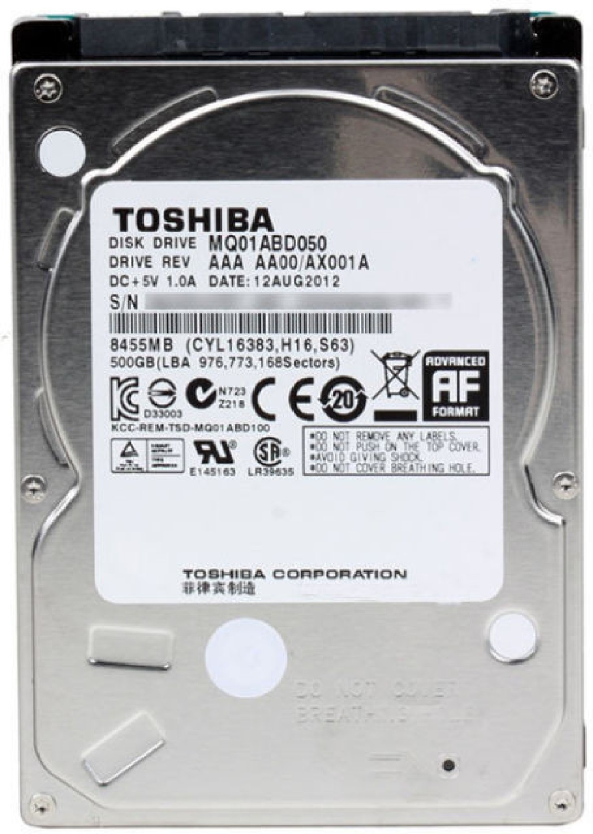 Toshiba Mq01abd050 500 Gb Laptop Internal Hard Disk Drive Harddisk 35 Inch Sata 500gb Seagate Slim Add To Cart