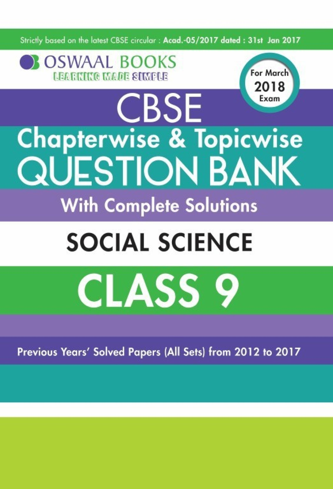 Oswaal CBSE Chapterwise and Topicwise Question Bank with Complete ...