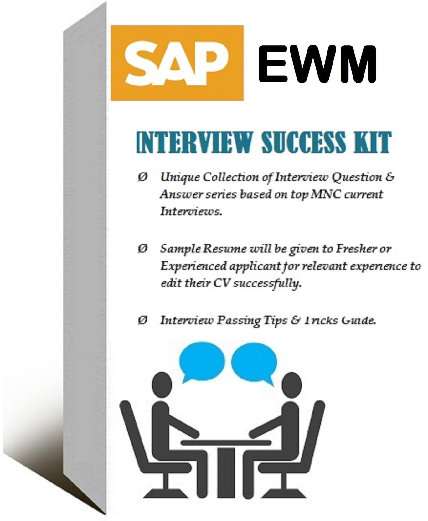 sapsmart SAP EWM ONLINE VIDEO (SELF-LEARNING) INTERVIEW SUCCESS KIT ...