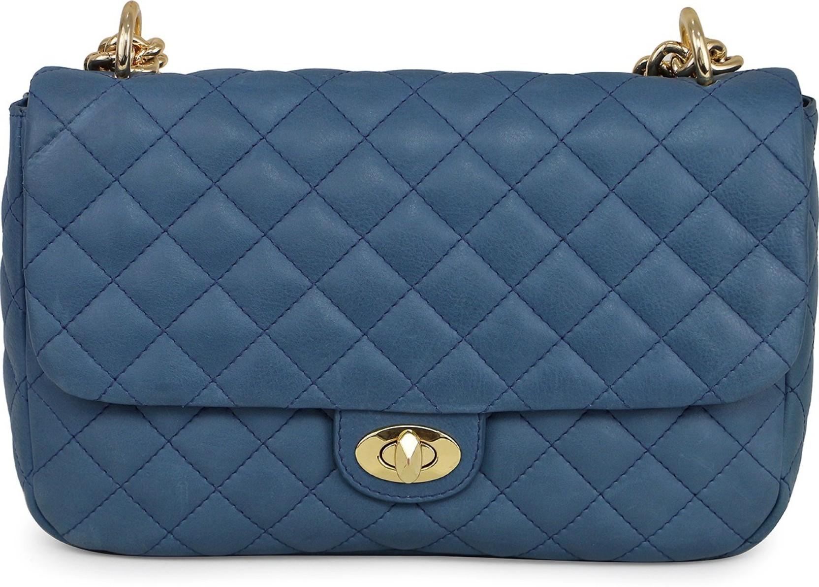 ad9b8d6b574 Da Milano Women Casual Blue Genuine Leather Sling Bag L.BLU - Price ...