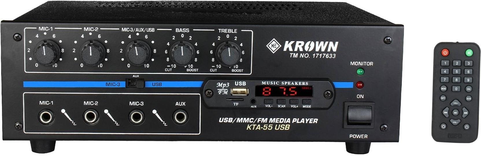 Krown Kta 550 Usb 55 W Av Power Amplifier Price In India Buy 58 Audio Home