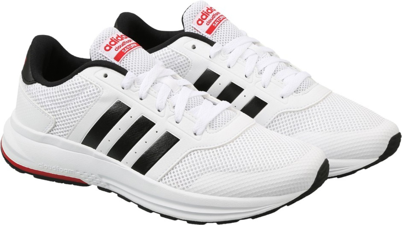buy online ce36e 15b08 ADIDAS NEO CLOUDFOAM SATURN Sneakers For Men (White, Black)