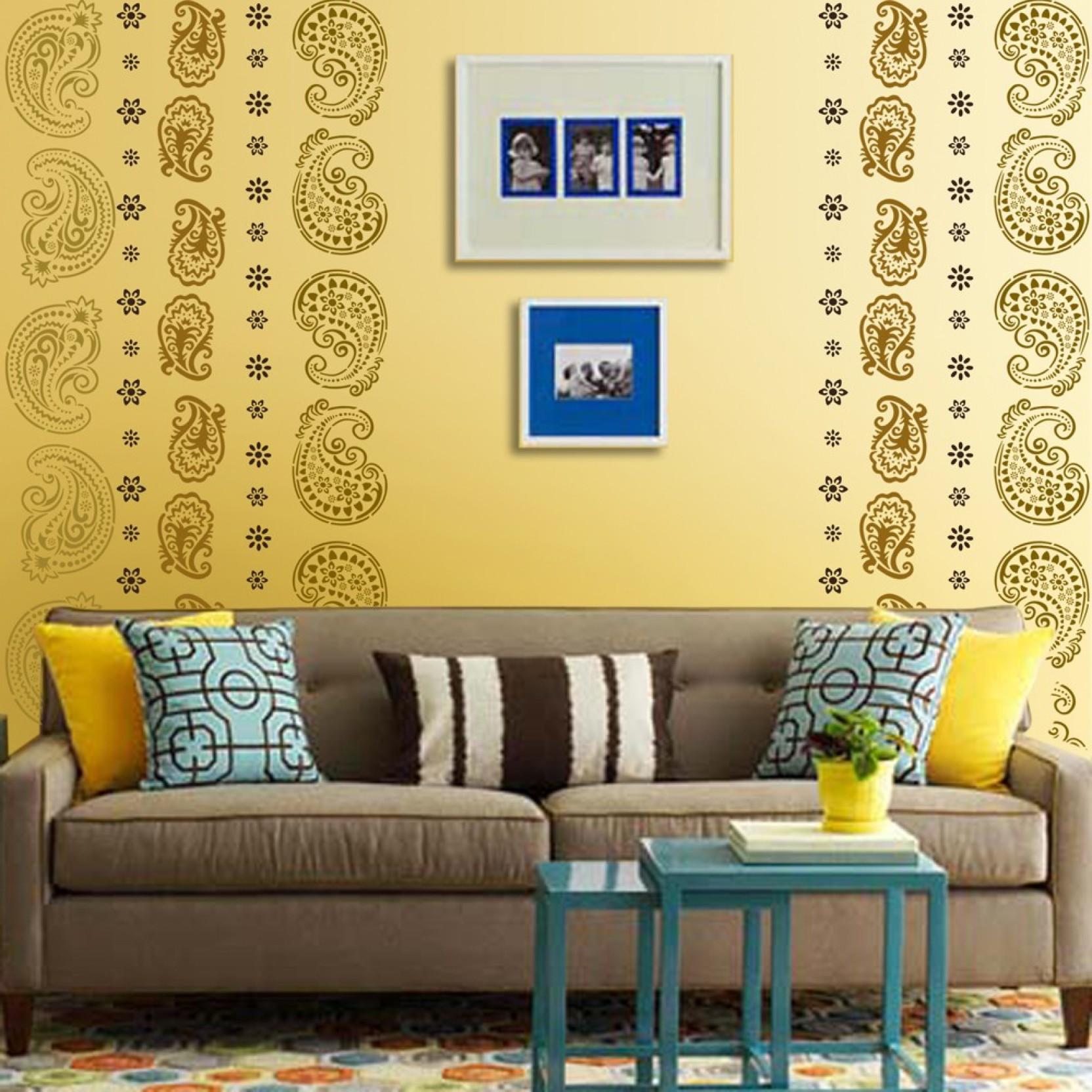 Arhat Stencils ETHNIC ASR-E141 GLOSSY PVC (Wall Décor & Art) Stencil ...