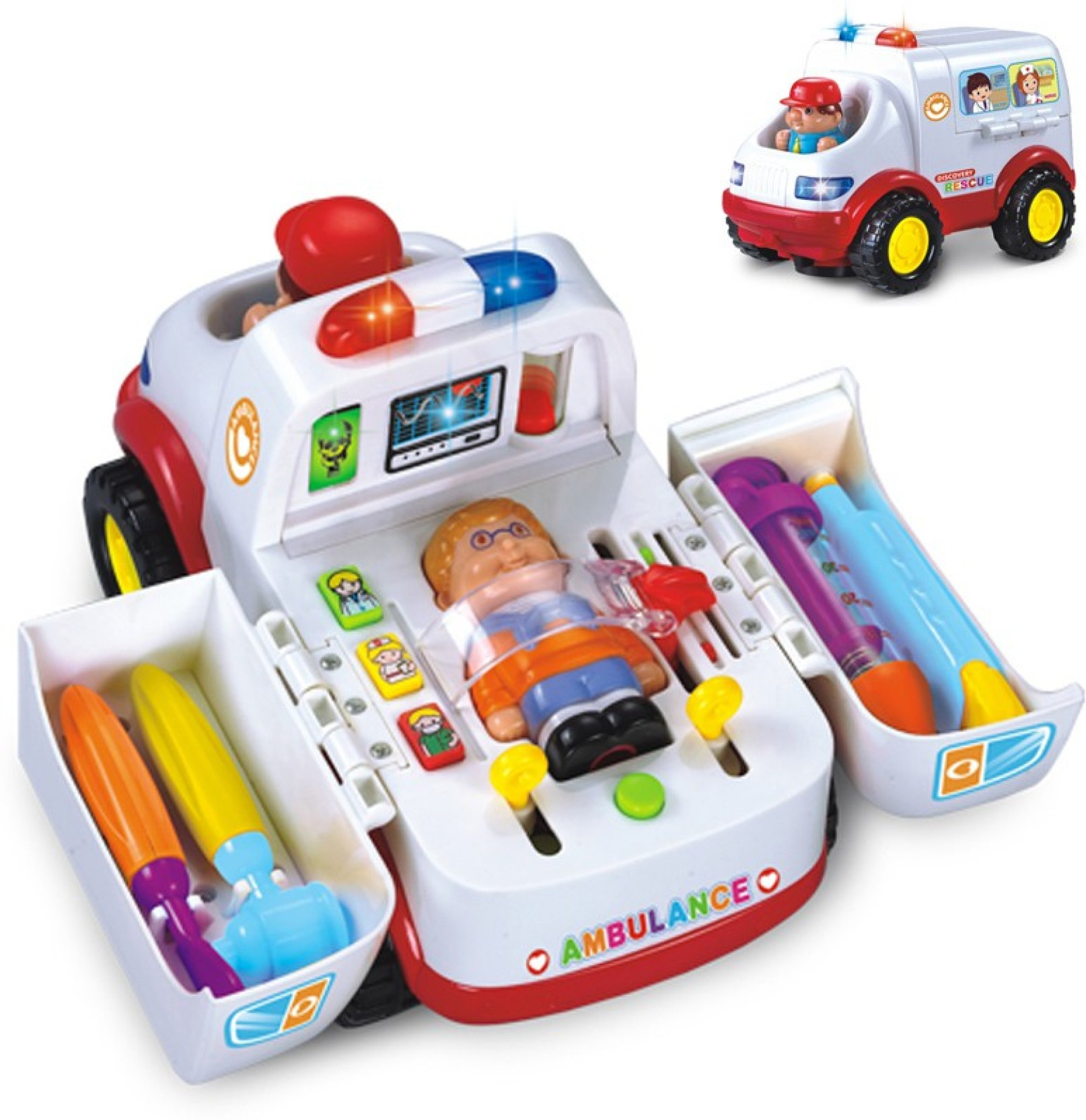 KidsYantra Kids Doctors Kit with Ambulance, Lights and ...