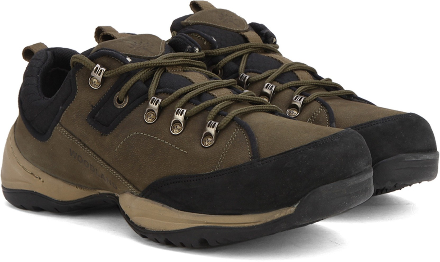 Woodland Leather Sneakers - Buy OLIVE GREEN Color Woodland ...