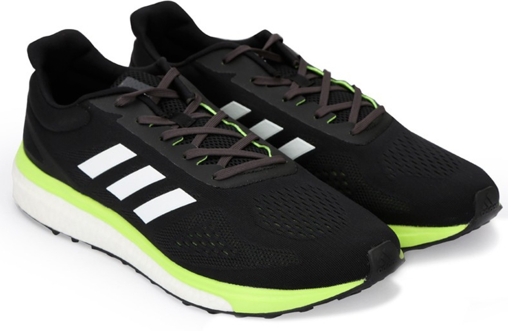huge selection of 6bd9f 7f060 ADIDAS RESPONSE LT M Running Shoes For Men (Black, Green, White)