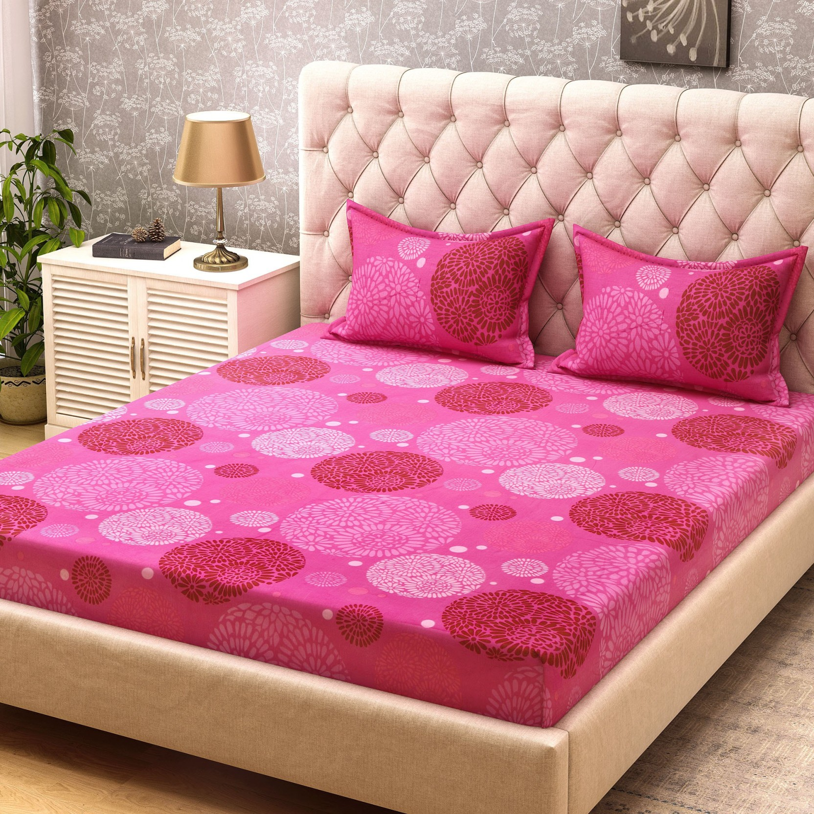 Bombay Dyeing Cotton Printed Double Bedsheet. ON OFFER
